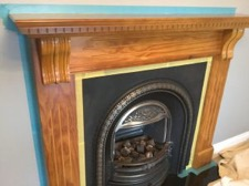 How To Paint A Fireplace Surround By, How To Sand A Wooden Fire Surround